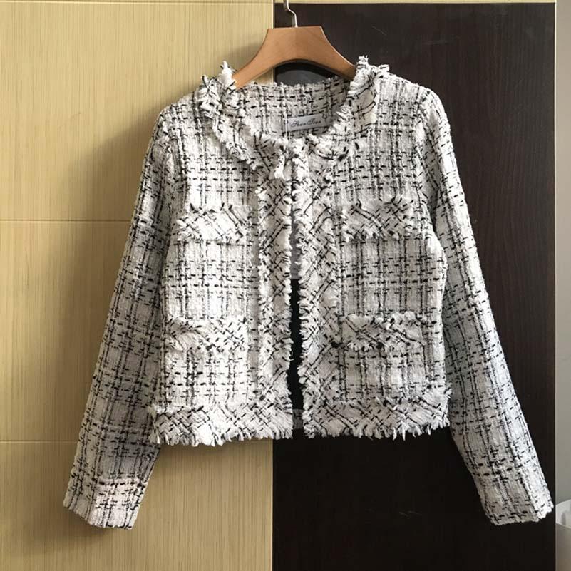 NiceMix 2019 Autumn winter Classic Tassel Women Jacket Fashion Tweed  Short Coat Womens Casual loose large size Outerwear