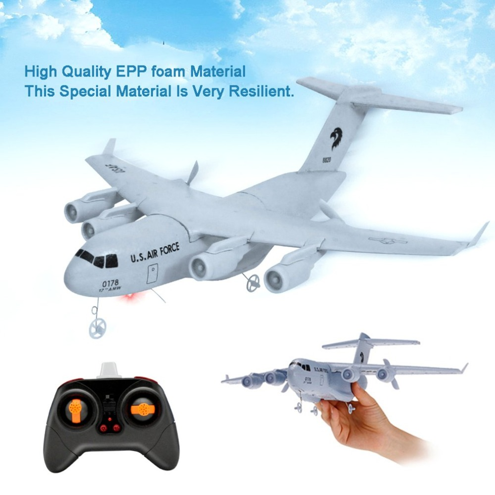 C17 Transport Aircraft 373mm Wingspan EPP RC Drone Airplane 2.4GHz 2CH 3-Axis DIY Aircraft for Children Toy eboyu tm volantex rc tw781 cessna 2 4g 2ch rc airplane 200mm wingspan mini epp infrared remote control indoor drone aircraft
