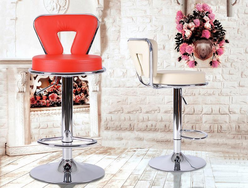 Bar fashion chair cafe house lifting stool green orange color bar