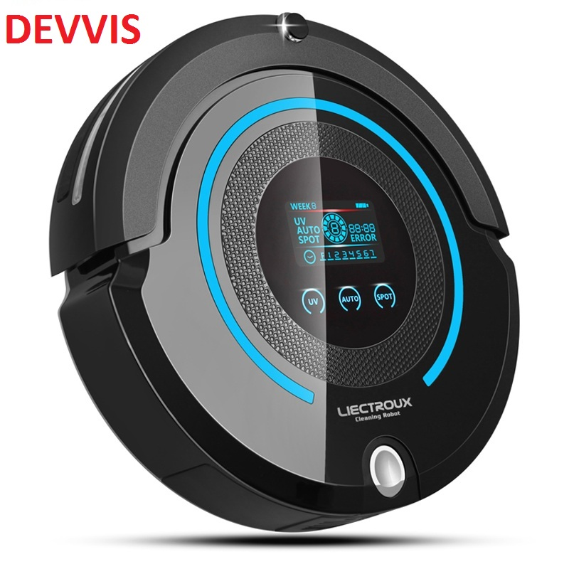 2017 Most Advanced Robot Vacuum Cleaner For Home (Sweep,Vacuum,Mop,Sterilize) With Remote control, LCD touch screen, schedule liectroux robot floor cleaner multifunction sweep vacuum mop sterilize touch screen schedule side brush autorecharge virtual