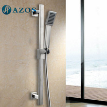 Single Function Hand Shower Head with Adjustable Slide Bar, Brushed SUS304 Stainless Steel Color LYTZ023