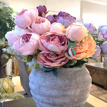 artificial peony flowers large Silk Decorative Fake Flowers For Hotel Wedding Garden Home Decor 12-13branches/bouquet