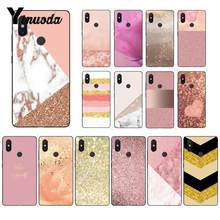 Yinuoda For Xiaomi Redmi Note Case Gold Pink rose Glitter Cool and Simple Case for Xiaomi MIX2 MI6 Mi8 NOTE3 Redmi 5 Redmi Note5(China)
