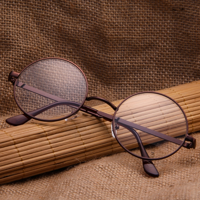 New Fashion Vintage Men Women Retro Round Eyeglasses Glasses Eyewear Clear Lens Hot Unisex(China)