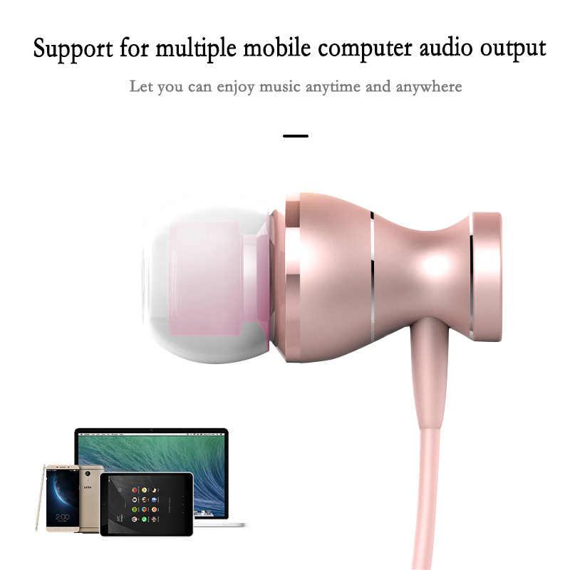 אופנה מתכת בתוך אוזן אוזניות מיקרופון אוניברסלי אוזניות סופר בס Auriculares סטריאו אוזניות עבור טלפון נייד MP3 מחשב