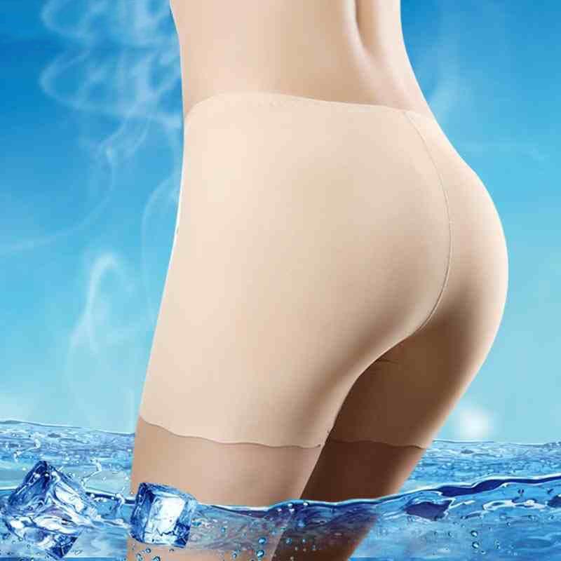 Women Safety Shorts Pants Seamless Nylon High Waist   Panties   Seamless Anti Emptied Boyshorts Pants Girls Slimming Underwear