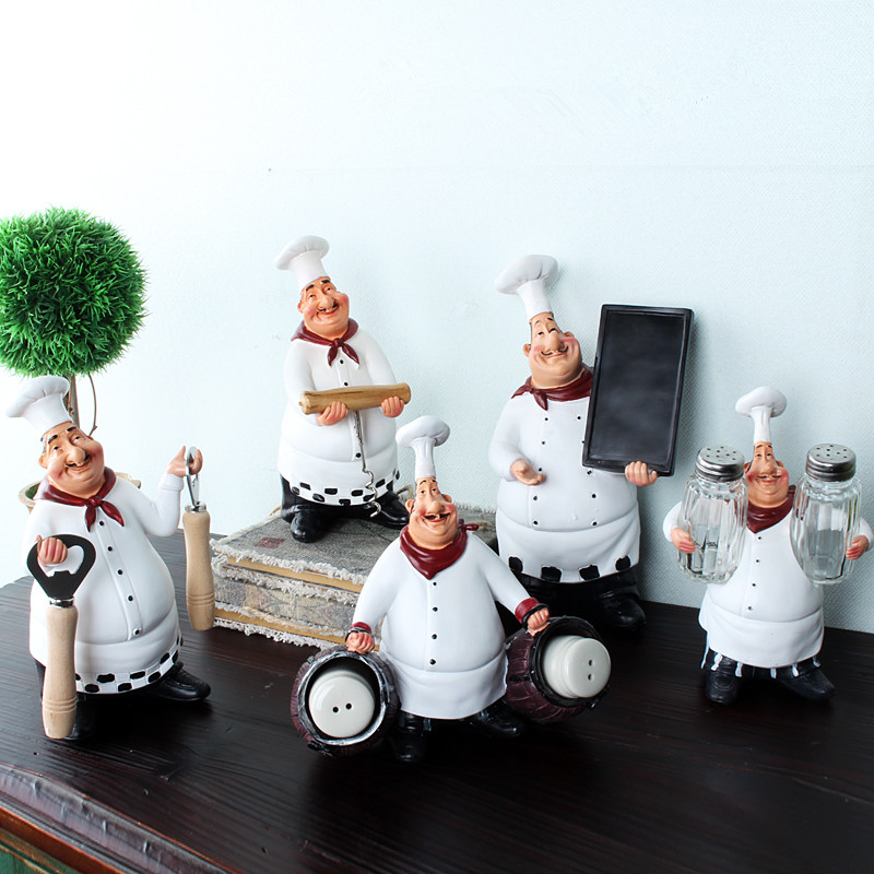 Chef resin crafts vintage home decor furnishing