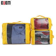 BUBM three piece traval bag toiletries makeup  pouch clothes receiving bag big capacity blue gray rose yellow orange waterproof