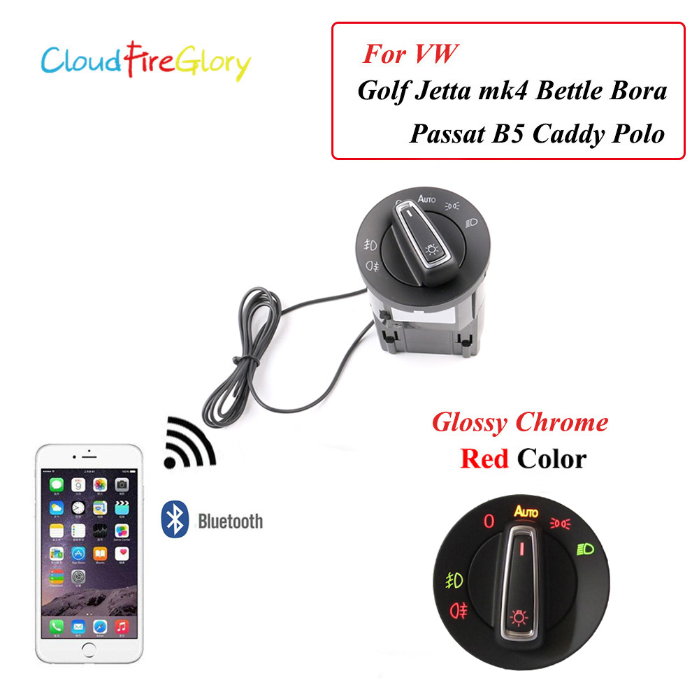 Bluetooth Support AUTO Headlight Lamp Switch Knob Light Sensor Module For VW Golf Jetta MK4 Passat