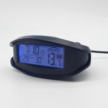 Цифровой Автомобильный термометр-50 до 70 indoorоткрытый автомобиль часы Вольтметр монитор в реальном времени данные Синий Оранжевый Подсветка преобразования EC98