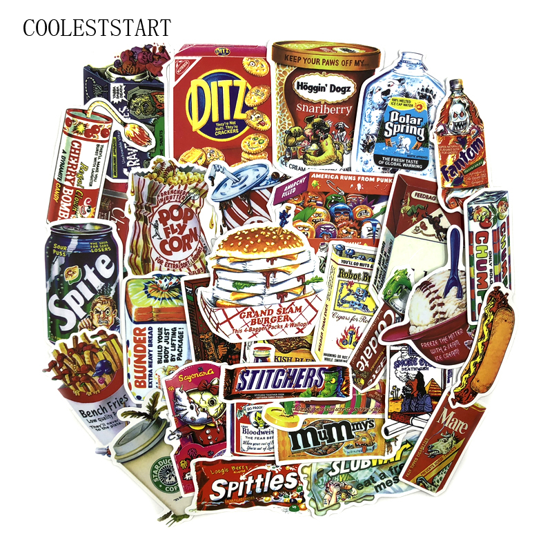38pcs-lot-spoof-food-and-drinks-packaging-stickers-for-skateboard-laptop-luggage-fridge-phone-car-styling-doodle-car-sticker