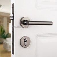 Oferta Impresionante diseñado Europea mudo cerradura de la Puerta de Interior sólida cerradura para puerta de madera