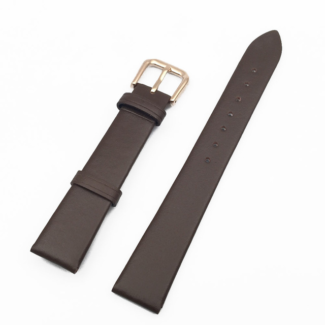 New watch accessories Rose gold button leather watchband 20mm 16mm watch strap stainless steel buckle watch bracelet brand 18mm 1