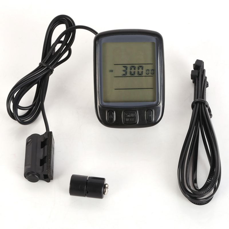 LCD Backlight Waterproof Sunding Bicycle Computer Multifunction Cycling Computer Bike Speedometer Odometer