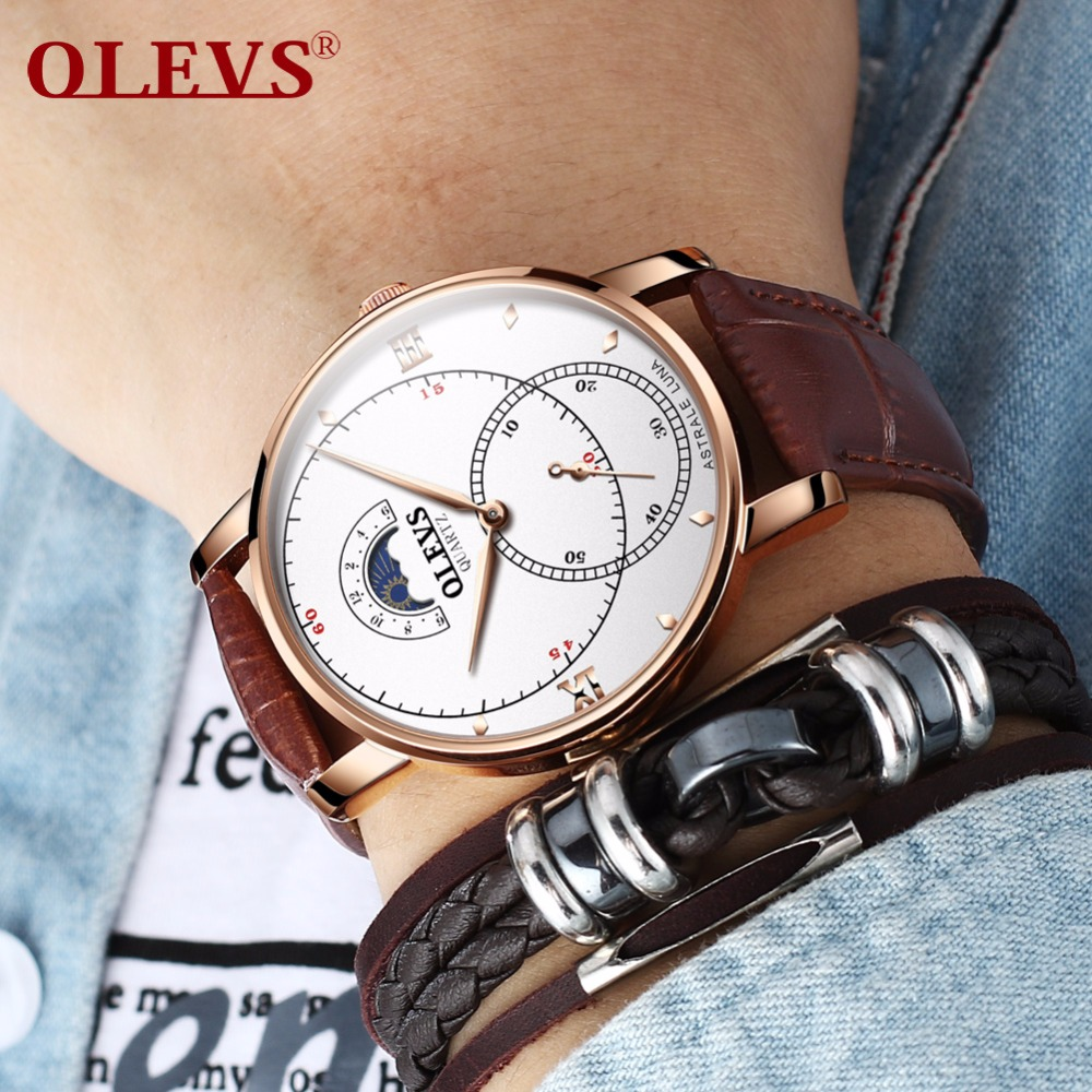 Man watch Men Watch Wristwatch Mens watches 2018 luxury brand Leather strap japan quartz waterproof watch Best whoch for men NEW
