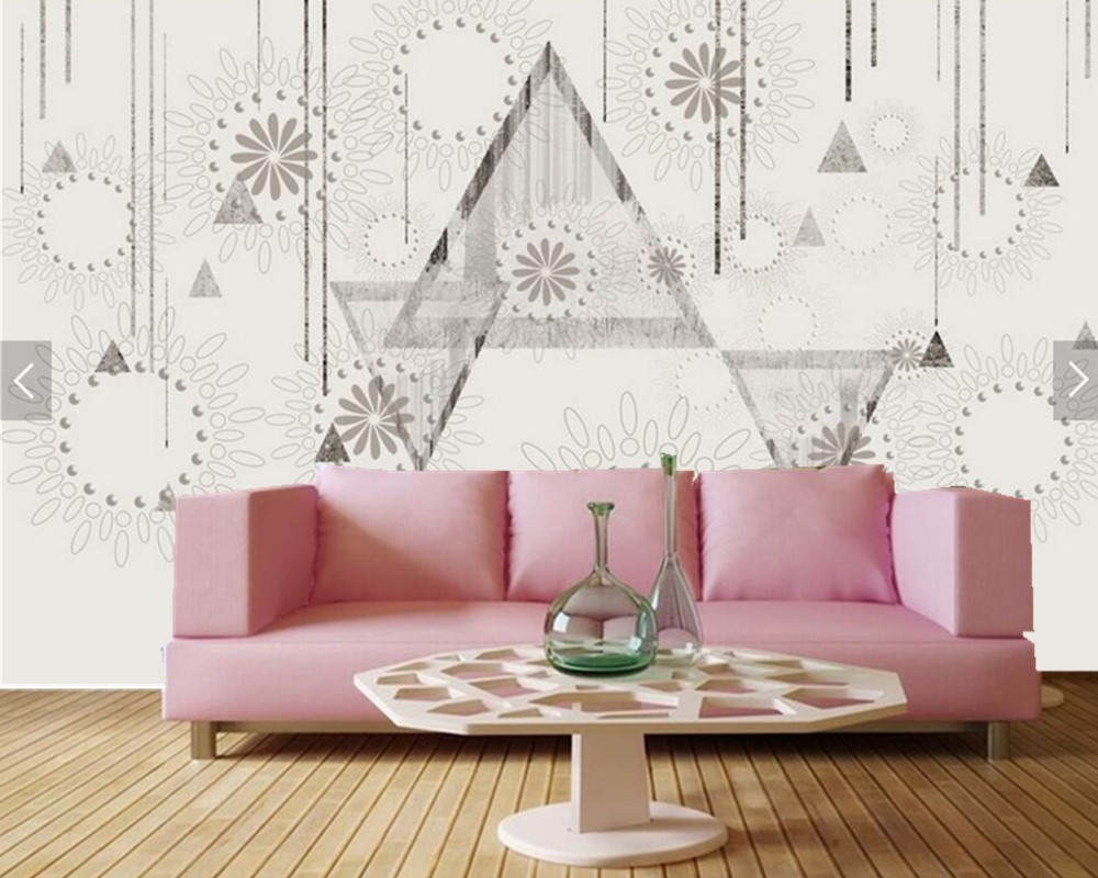 Custom Nordic minimalist abstract pattern vintage wallpaper,dining ...