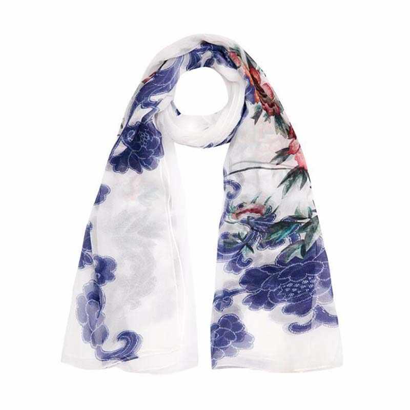 2019 de Alta qualidade 100% lenço de seda amoreira natural real silk Mulheres cachecóis Longos Xale Feminino hijab envoltório Da Praia do Verão -ups