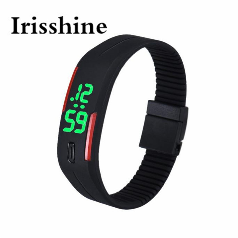 Irisshine I0800 Brand Luxury Mens Womens Rubber LED Watch Date Sports Bracelet Digital Wrist Watch Unisex Watches Couple Gift
