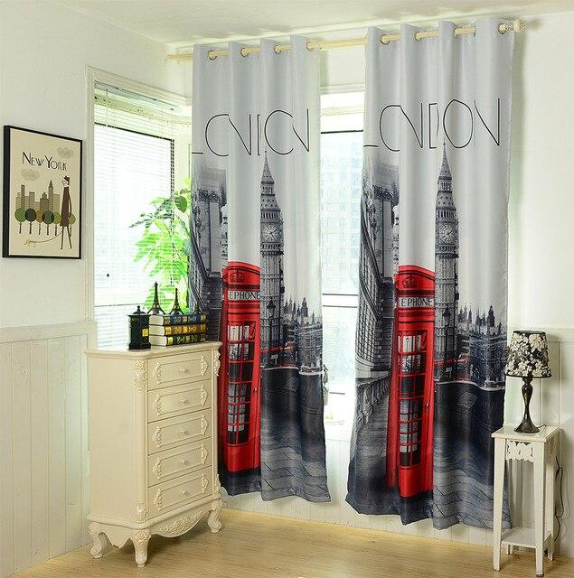 1.4x2.6 m 3D britse gordijnen goedkope slaapkamer gordijnen UK ...