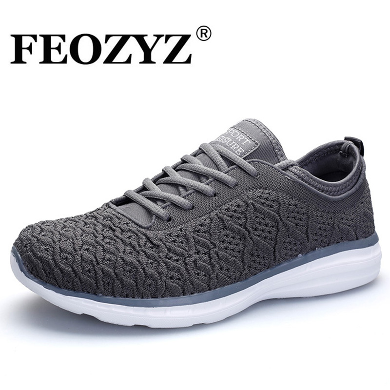 FEOZYZ Free Run Men Running Shoes Knit Upper Breathable Mens Sneakers Lightweight Jogging Shoes Fitness GYM Walking Shoes
