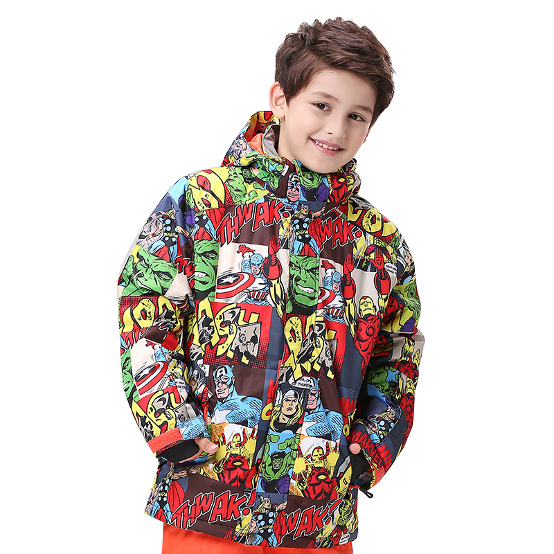 Gsou Snow Ski Jacket Kids Winter Outdoor Children Warm Colorful Snowboard Jacket Windproof Waterproof Thermal Snow Sports Coats