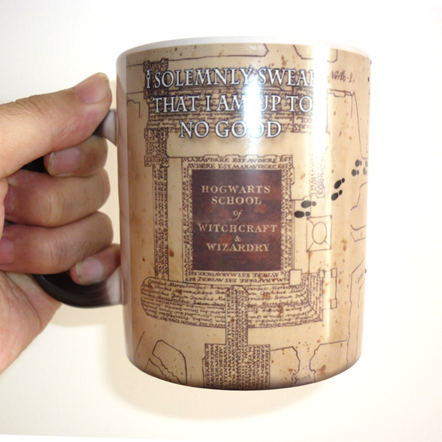 Drop shipping! Light Magic - mischief managed mug Color Changing Cup,I Solemnly Swear That I Am Up To No Good Coffee Cups harry potter mug marauders map