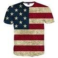 Bandeira DOS EUA do T-shirt Dos Homens/Mulheres Sexy Listrado Bandeira Americana Impressão Tshirt 3d Camisa Dos Homens T Verão Tops Tees Plus Size 3XL 4XL