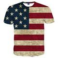 USA Flag T-shirt Men/Women Sexy 3d Tshirt Print Striped American Flag Men T Shirt Summer Tops Tees Plus 3XL 4XL