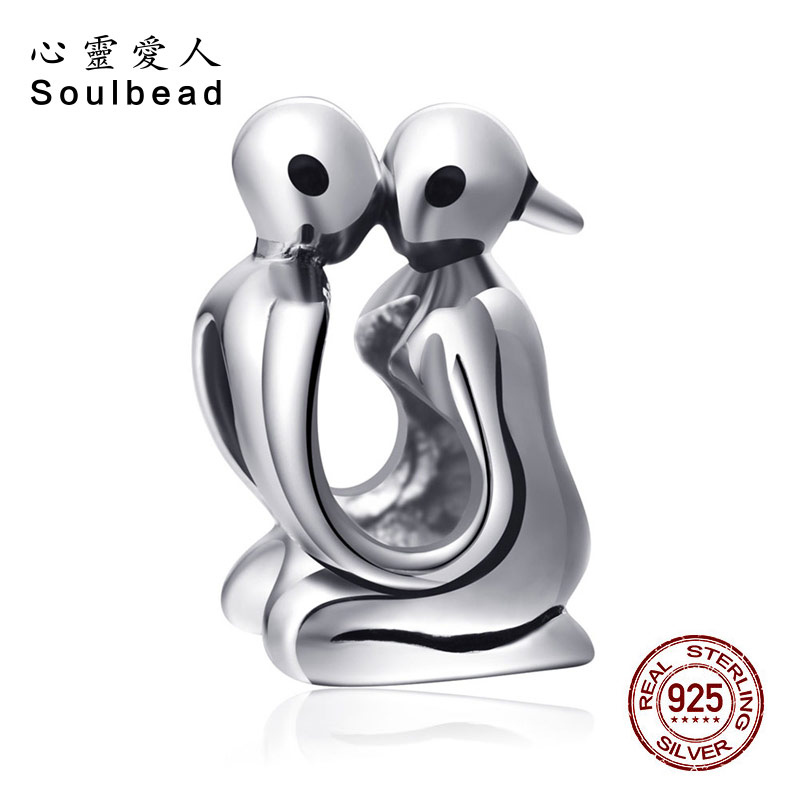 Soulbead Sterling Silver European Man And Woman Couple Lover Charm Beads Fit Pandora Charms Bracelets Exquisite Jewellery SS2324