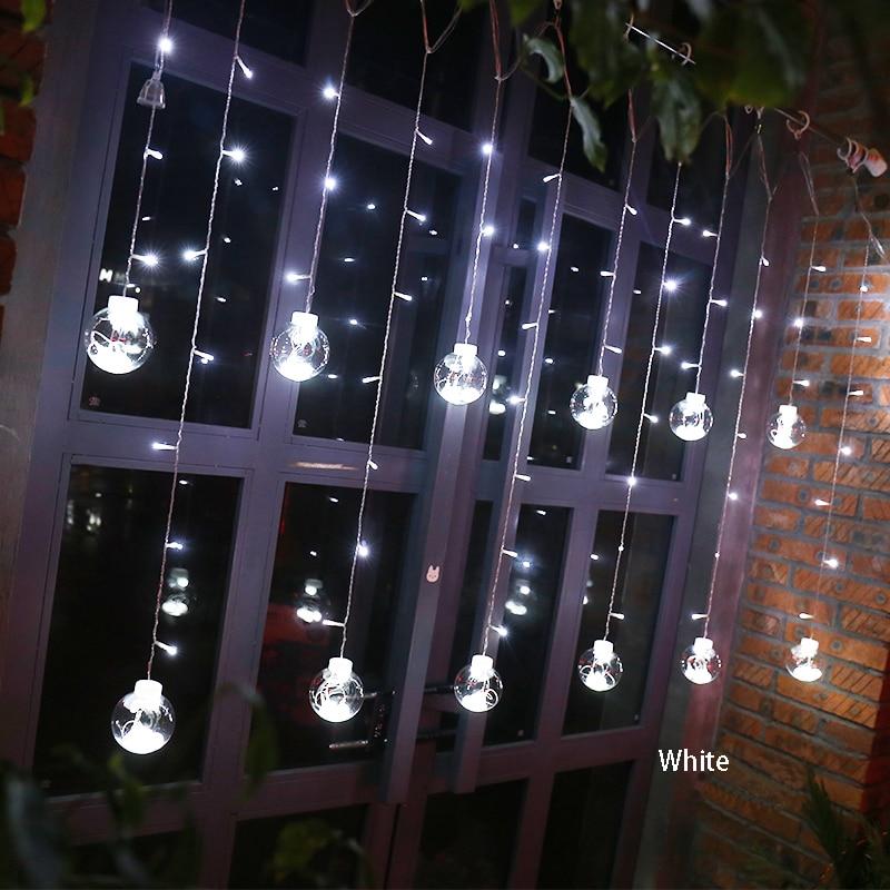 Led cortina icicle bola de hadas cadena deseando luces fiesta fiesta - Iluminación de vacaciones - foto 2