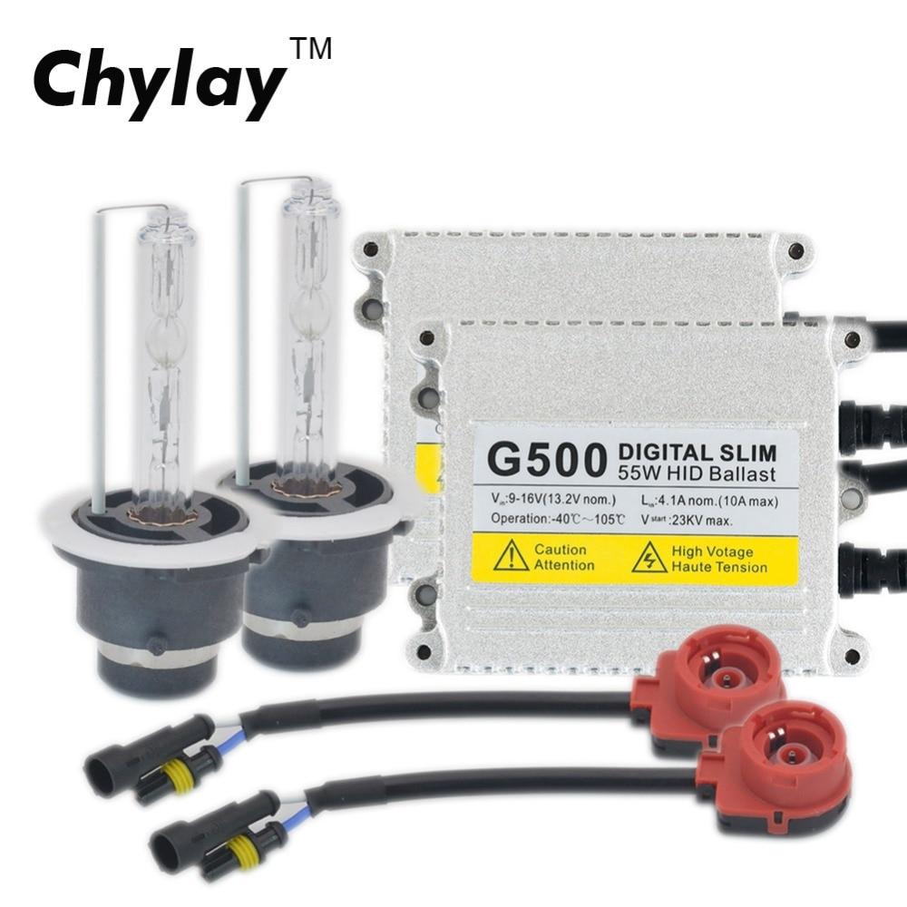 AC 55W D2S Xenon HID Kit Digital Slim HID Ballast 4300k 5000k 6000k 8000k Xenon Lamp D2S D2C For Car Headlight Light Bulb