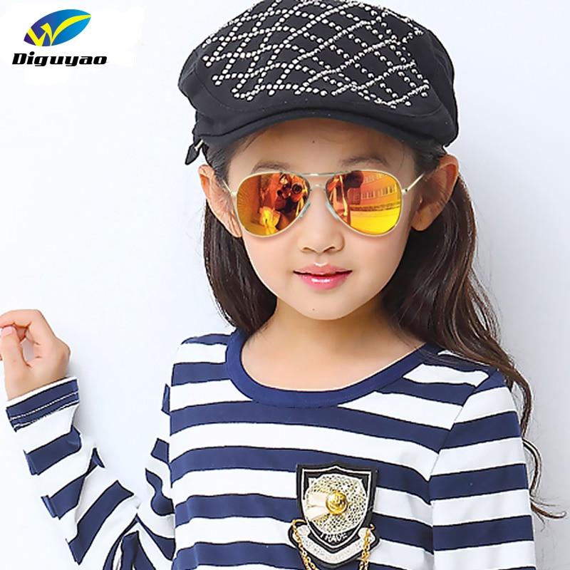 DIGUYAO Mode Boys Kids Solglasögon Pilot Style Märke Design Barn Solglasögon 100% UV-skydd solglasögon Oculos De Sol Ga