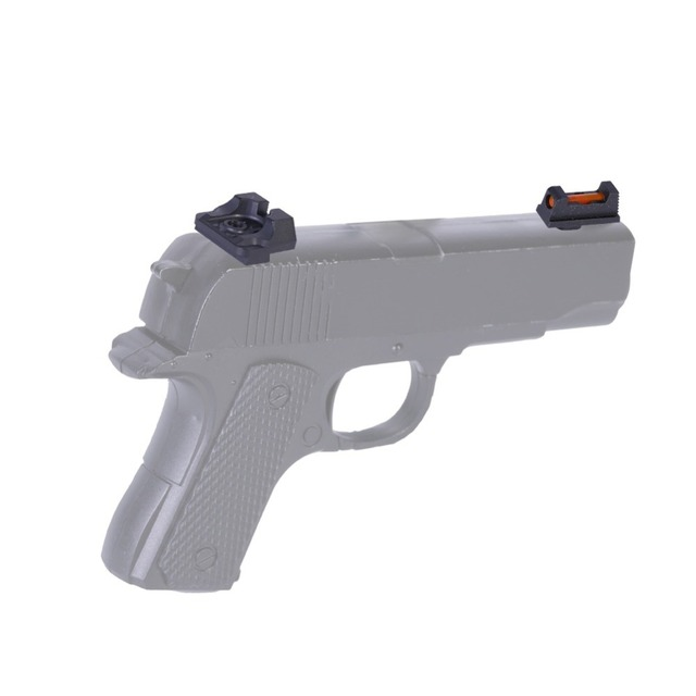 Optic Fiber Front with Combat Rear Sights Hunting Accessories for Glock Standard Models