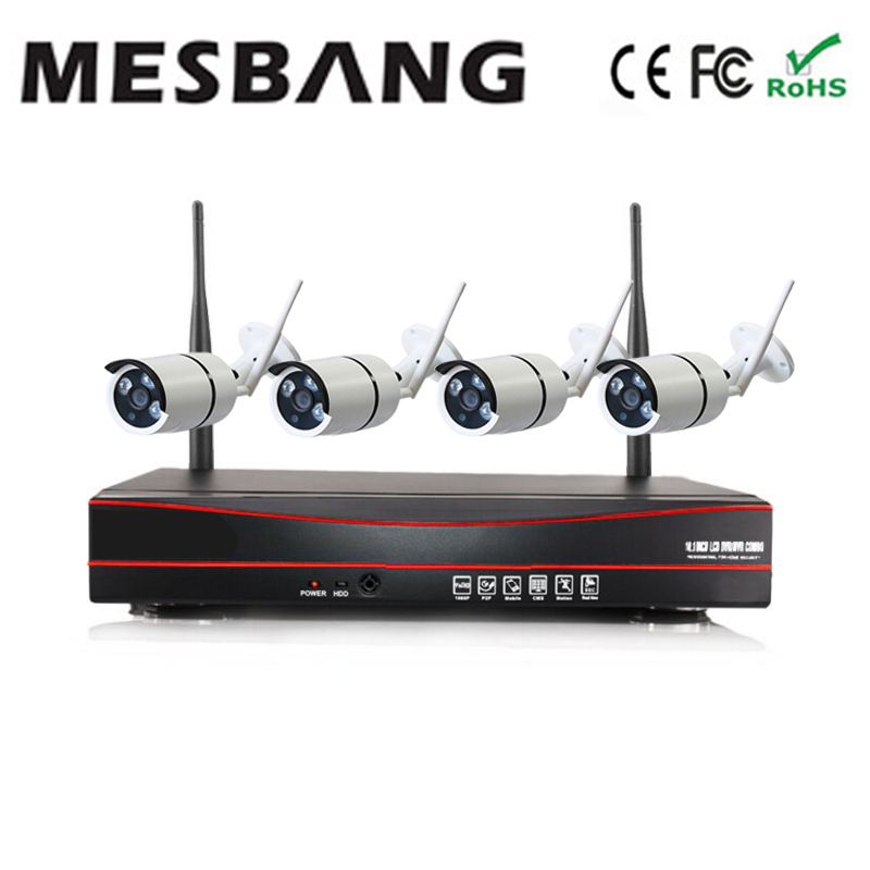hot 720P 4ch easy to install no need cable shop office home security cctv camera system
