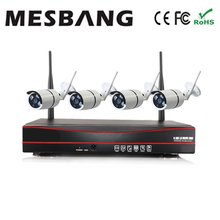 hot 720P 4ch easy to install no need cable shop office home security cctv camera  system  wireless wifi  IP camera kits