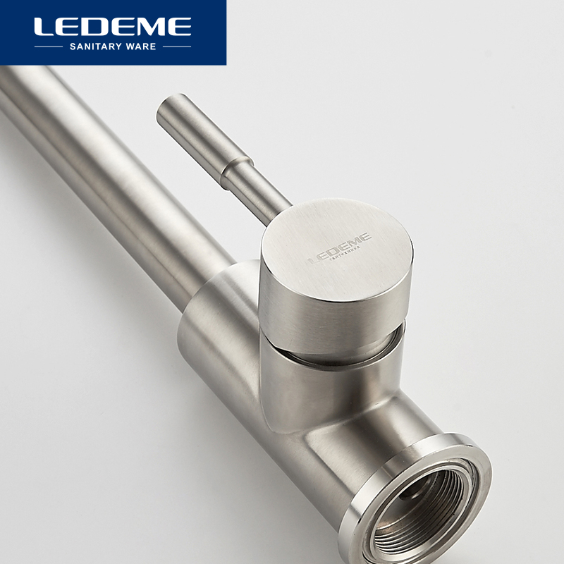Image 4 - LEDEME 360 Single Handle Single Hole Kitchen Faucet Mixers Sink Tap Wall Kitchen Faucet Modern Hot and Cold Water L4998 4-in Kitchen Faucets from Home Improvement