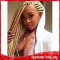Hot Sale african american blonde 613# Synthetic Lace Front Hair Wig For Micro Braided Wigs Black Women Lace front box braid wig
