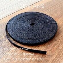 Sıcak satış 5 metre GT2-10mm Açık zamanlama kemeri Genişliği 10mm GT2 Kemer GT2 10mm için 3D yazıcı