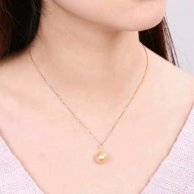 shilovem 18k yellow gold Natural  pearls pendants fine Jewelry women trendy no necklace  gift yzz9-1099zz 4