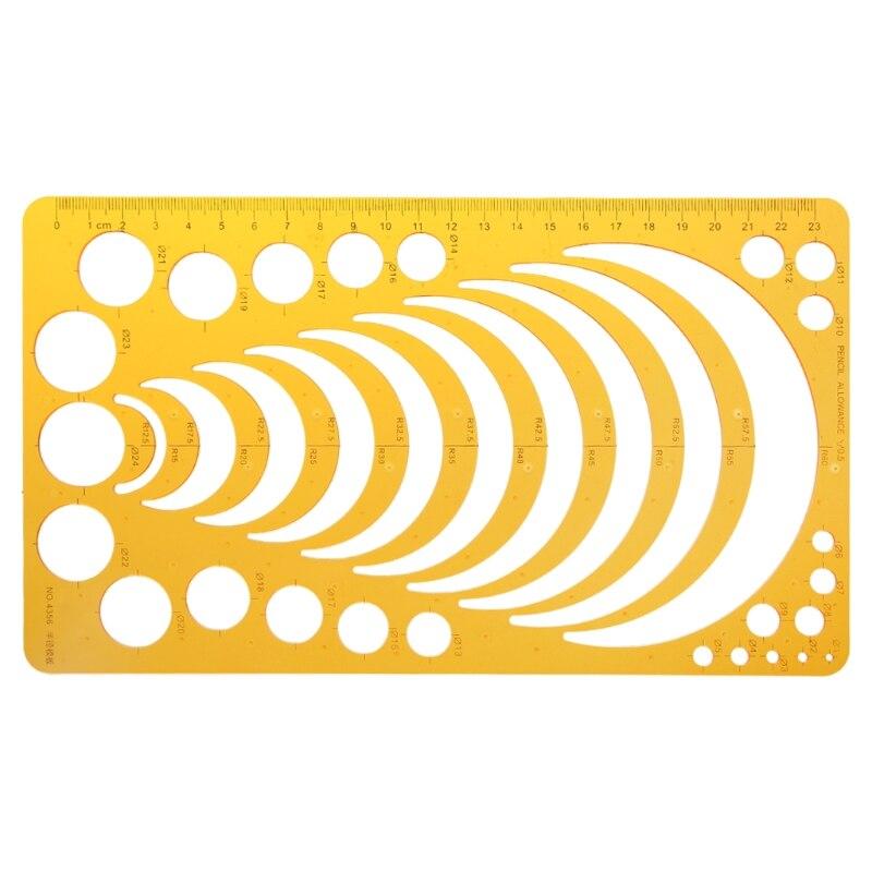купить K Resin Template Ruler Stencil Measuring Tool For Drawing Many Size Round Circle онлайн