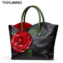 Tomubird Для женщин s сумки на ремне 2017 Улучшенный натуральной кожи Для женщин сумки женские ручной работы трехмерными цветами Сумка Bolsa