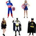 Костюм супермена Бэтмен человек-Паук Одежда Для Мужчин Женщины Косплей Реквизит Хэллоуин Карнавал Танец Партия Поставки