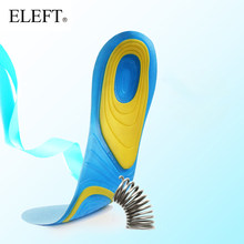ELEFT Silicone sport shoes pad comfortable gel insoles men massage sole women orthotic insoles sports shoes women shoes(China)