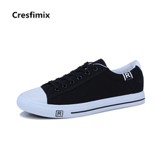 Cresfimix zapatos de mujer male fashion plus size high quality canvas shoes men cool comfortable lace up autumn shoes b2331