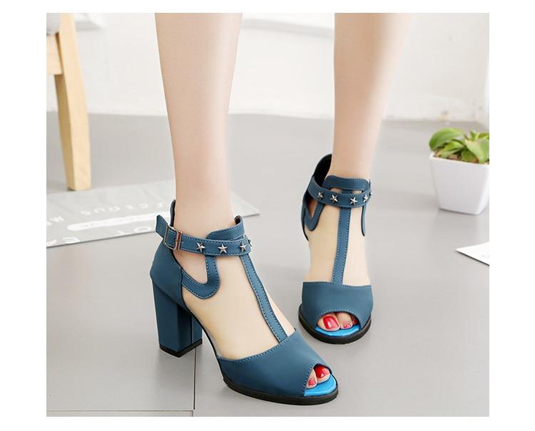 HTB1B3Alfr1YBuNjSszeq6yblFXau Women sandals 2019 fashion summer shoes women high heels hollow mesh sexy sandals size 35 - 43 mujer sandalias