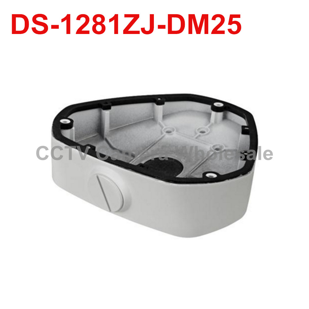 DS-1281ZJ-DM25 inclined ceiling mount bracket junction box for fisheye camera DS-2CD6362F-IVS DS-2CD63C2F-IVS DS-2CD6332FWD-IVS ds 1602zj box pole ptz camera vertical pole mount bracket with junction box