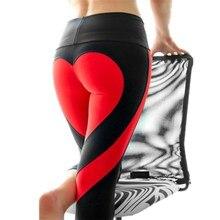 Lulu Heart Pattern Mesh Splice Legging Harajuku Athleisure Fitness Clothing Sportswear Elastic Sporting Leggings Women Pants