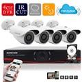 Sunchan HD 720 P AHD-M sistema de CCTV 4CH 1080 P HDMI Out DVR Kit 4 1200TVL exterior visión nocturna sistema de cámaras de seguridad con 1 TB HDD camaras de seguridad kit camaras seguridad home