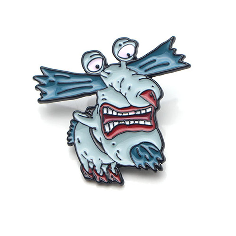 K49 Aaahh Real Monsters Metal Enamel Pins and Brooches for Women Men Lapel Pin Backpack Badge Denim Brooch Collar Jewelry in Brooches from Jewelry Accessories