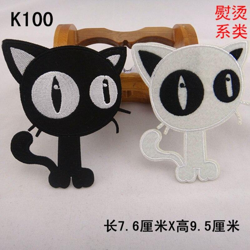 Dos Desenhos Animados Gato Preto E Branco Com Os Olhos Grandes De